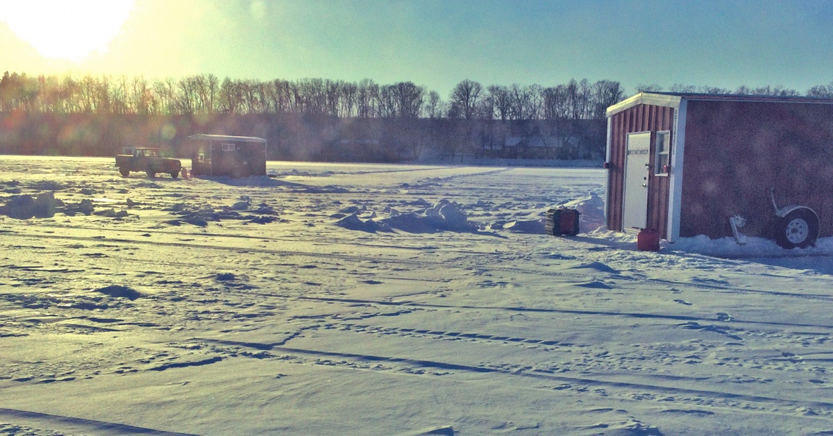 Ice Fishing Alexandria In January For Walleyes And